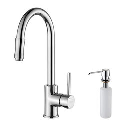 Kraus - Kraus KPF-1622-KSD-30CH Single Lever Pull Down Kitchen Faucet, Chrome, 15 X 7 X - Update the look of your kitchen with this multi-functional Kraus pull-out faucet