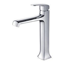 Fresca - Fresca Verdura Single Hole Vessel Mount Bathroom Vanity Faucet - Chrome - Fresca Verdura Single Hole Vessel Mount Bathroom Vanity Faucet - Chrome