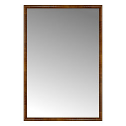 """Posters 2 Prints, LLC - 53"""" x 78"""" Belmont Light Brown Custom Framed Mirror - 53"""" x 78"""" Custom Framed Mirror made by Posters 2 Prints. Standard glass with unrivaled selection of crafted mirror frames.  Protected with category II safety backing to keep glass fragments together should the mirror be accidentally broken.  Safe arrival guaranteed.  Made in the United States of America"""