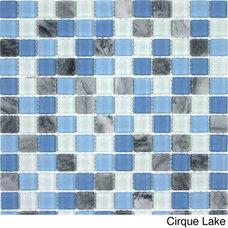 Tile Glacier Mountain Squares Tiles (10.56 Square Feet)