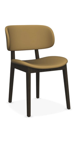 CALLIGARIS - CLAIRE DINING CHAIR, Oslo Mustard Yellow, Smoke Frame, Set of 2 - Frame finished in Smoke or Natural Oak. Seat available in Denver Sand and Cord, and Oslo Aquamarine and Mustard yellow.