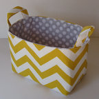 Fabric Organizer Storage Container Basket Bin by Baffin Bags - Add just a touch of the pattern to a nursery with a basket while keeping your diapers and wipes organized. It's brilliant and chic.