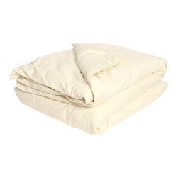 Bio Sleep Concept - All Season Organic Eco Valley Wool Twin-size Comforter - Keep warm in winter and cool in summer with these organic wool comforters. With 100 percent organic wool and featuring a 300-thread count,these comforters are comfortable,soft,and hypoallergenic. A light beige color complements your bedroom decor.
