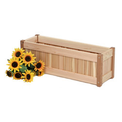 All Things Cedar - CEDAR Planter Box 30 - The perfect Color to fit under any window or to accessorize your deck. : DIMENSIONS : 33w x 10d x 11h (unassembled kit)