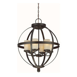 Sea Gull Lighting - Sea Gull Lighting-3190406-715-Sfera - Six Light Chandelier - *Canopy Included: TRUE