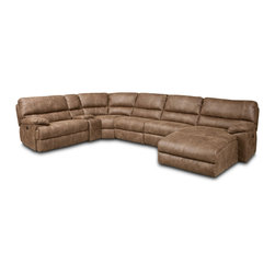 Hooker Furniture - Hooker Furniture Haven 6 PC Power Sectional with RAF Chaise - Developed by one of America's premier manufacturers to offer quality furniture at affordable prices. Each piece is meticulously hand-crafted using the most exquisite leathers in the world. The Haven 6 PC Power Sectional with RAF ChaiseHaven leather.