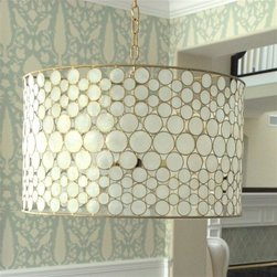 Oly Studio Serena Drum Chandelier Brass - I fell utterly in love with this chandelier.