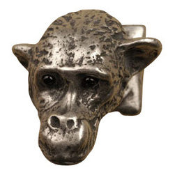 Anne at Home Hardware - Monkey Head Knob, Pewter w/ Maple Wash - Made in the USA - Anne at Home customized cabinet hardware enables even the most discriminating homeowner to achieve the look of their dreams.  Because Anne at Home cabinet hardware is designed to meet your preferences, it may take up to 3-4 weeks to arrive at your door. But don't let that stop you - having customized Anne at Home cabinet knobs and pulls are well worth the wait!   - Available in many finishes.