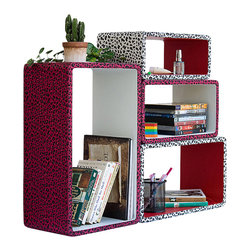 Blancho Bedding - Crimson White Panther Rectangle Leather Wall Shelf /  Floating Shelf Set of 4 - These rounded corner wall cube shelves add a new and refreshing element to your room and can be easily combined with other pieces to create a customized wall space. Coming in various colors and sizes, they spice up your home's decor, add versatility, and create a whole new range of storage spaces. You can hang them on the wall, or have them stand on table or floor, any way you like. Fashion forward design has never been so functional. This range of faux leather storage cubes is sure to delight! Perfect for wall mounting, these modern display floating shelves are sure to delight. Constructed from MDF with a top faux leather wrapping. Easy to mount, easy to love! Attractive shelf boxes give any wall in your home a striking appearance. Arrange in whatever fashion you like - whether it be grouped together or displayed separately. Each box serves as a practical shelf, as well as a great wall decoration.