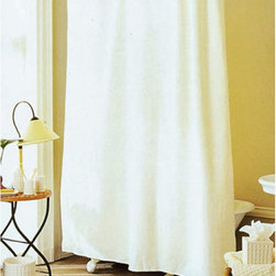 Creative Bath Products - Waffle Weave Shower Curtain - Ivory Ivory White - S0319WH - Shop for Mats and Rugs from Hayneedle.com! After a long stressful day there's nothing better than relaxing in a bubble bath or hot shower. The Waffle Weave Shower Curtain - Vanilla creates a sense of calm and serenity in your bathroom so you can wash all your worries away. Made of a cotton/polyester blend in a luxurious waffle woven texture this neutral vanilla-colored curtain is easy on the eyes and will coordinate with any of your favorite accessories.About Creative BathFor over 30 years Creative Bath has developed innovative stylish bathroom decor items. They have grown exponentially and now you can find their products in major retail and online stores around the world. From shower curtains to soap dishes and everything in between Creative Bath brings you high quality items to enhance your lifestyle.