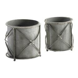 Cyan Design - Sheldon Round Planters - Sheldon round planters - rustic gray