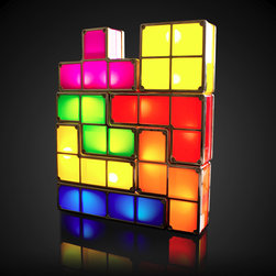 Tetris Light - If you've had another restless night trying to get those Tetris blocks out of your head, this Tetris Light may just do the trick. Stack them however you wish (without worrying about space constraints!) and then use as a night light to whisk those tetrimino nightmares away! This unique table lamp features seven pieces and plugs into a standard US 110v outlet.