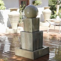 Gist Decor - Double Obtuse Fountain with Ball -