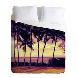 DENY Designs - DENY Designs Deb Haugen Crozier Sunset Duvet Cover - Lightweight - Turn your basic, boring down comforter into the super stylish focal point of your bedroom. Our Lightweight Duvet is made from an ultra soft, lightweight woven polyester, ivory-colored top with a 100% polyester, ivory-colored bottom. They include a hidden zipper with interior corner ties to secure your comforter. It is comfy, fade-resistant, machine washable and custom printed for each and every customer. If you're looking for a heavier duvet option, be sure to check out our Luxe Duvets!