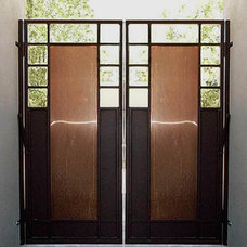 Contemporary Fencing by Colletti Design Iron Doors