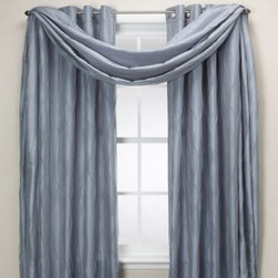 """Zorlu Usa Inc. - Venice Scarf Curtain Valance - With a shimmering surface and waves of coordinating color, these Venice window treatments are sure to make an elegant statement in your home. With their sturdy, yet decorative 1 1/2"""" grommets, these curtains are also extremely easy to hang."""
