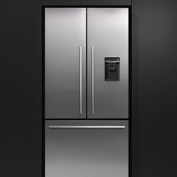 """Fisher Paykel - RF201ADUSX4 36"""" 20.1 cu. ft. Counter Depth French Door Refrigerator With Glass S - The RF201ADUSX4 comes with a built-in ice maker and a easy to use water dispenser giving you water and ice whenever you want it The water dispenser is angled so you can fill anything regardless of its shape or size easily"""