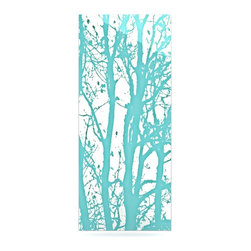 "Kess InHouse - Monika Strigel ""Mint Trees"" Metal Luxe Panel (9"" x 21"") - Our luxe KESS InHouse art panels are the perfect addition to your super fab living room, dining room, bedroom or bathroom. Heck, we have customers that have them in their sunrooms. These items are the art equivalent to flat screens. They offer a bright splash of color in a sleek and elegant way. They are available in square and rectangle sizes. Comes with a shadow mount for an even sleeker finish. By infusing the dyes of the artwork directly onto specially coated metal panels, the artwork is extremely durable and will showcase the exceptional detail. Use them together to make large art installations or showcase them individually. Our KESS InHouse Art Panels will jump off your walls. We can't wait to see what our interior design savvy clients will come up with next."