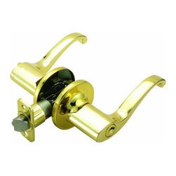 DHI-Corp - Scroll Universal Latch Entry Door Handle, Adjustable Backset, Polished Brass - The Design House 741033 Scroll Universal Latch Entry Door Handle accepts a key on one side of the lock but is operated by a turn-button knob on the other side. Finished in polished brass and designed for left or right hand doors, this knob fits the two most common backsets in the U.S. (2-3/4-inch and 2-3/8-inch). The 1/2-inch latch bolt is plated in nickel and does not budge once in place. Entry levers are often used on front doors and back doors. Use this knob on standard 1-3/8-inch and 1-3/4-inch thick doors. This product has a drive-in latch, 1 inch x 2-1/4-inch radius corner face plate, and square corner face plate. If you are preparing your door for installation, the cross bore should be 2-1/8-inches in diameter and the edge bore should be 1-inch in diameter. This product is ANSI Grade-3 certified, which means this knob is rated for residential security. The Design House 741033 Scroll Universal Latch Entry Door Handle comes with a limited lifetime mechanical warranty and a 5-year finish warranty that protect against defects in material and workmanship. Design House offers products in multiple home decor categories including lighting, ceiling fans, hardware and plumbing products. With years of hands-on experience, Design House understands every aspect of the home decor industry, and devotes itself to providing quality products across the home decor spectrum. Providing value to their customers, Design House uses industry leading merchandising solutions and innovative programs. Design House is committed to providing high quality products for your home improvement projects.