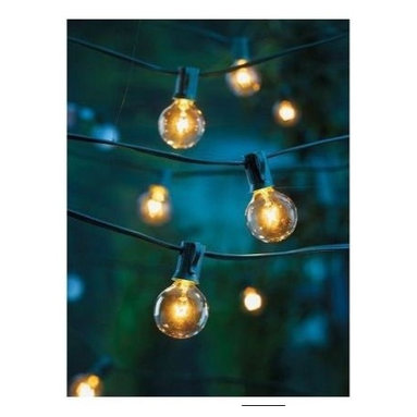 Clear Globe String Lights Set of 25 G40 Bulbs Indoor/ Outdoor - I'd like to string up these lights in a tipi, or around any reading nook. They're so pretty.