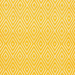 Diamond Canary/White Indoor/Outdoor Rug - I love this cheery yellow rug's diamond pattern and can imagine it on my back porch during the warmer months.