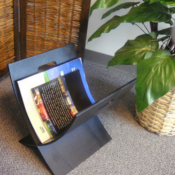Aspen Magazine Rack Black - This modern magazine rack adds style to your home and office. It has handles for convenient portability, lightweight and sturdy. You can put magazines and books in this rack and keep your room mess free.