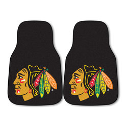 Fanmats - NHL Nylon Hockey Team Logo 2-piece Carpeted Car Mats - Protect your vehicle's flooring with officially licensed car mats by Fanmats. The universal fit makes it ideal for any car and the large team logo is chromojet printed in true team colors making it perfect for hockey fanatics.
