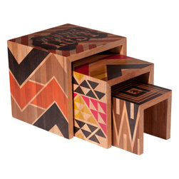 DGoods - DGoods Detours Nesting Tables, Set of 3 -