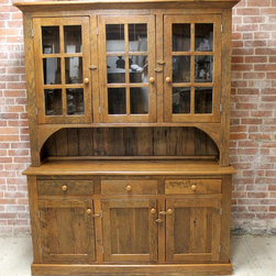 Reclaimed Solid Wood Hutch - Reclaimed Wood Hutches are beautifully classic and durable pieces. These pieces can be customized to look sleek or rustic but always are casually elegant. www.lakeandmountainhome.com 978-505-3222
