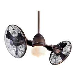 42-Inch Wet Rated Ceiling Fan w/ Turbofans and Light Kit -