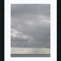Amanti Art - Brian Leighton 'Bleu 10' Framed Art Print 18 x 22-inch - This piece by photographer Brian Leighton invites you to meditate on the sky, sea, and line of the horizon.This is a welcome addition to anyone wanting to add some quiet contemplation in their surroundings.