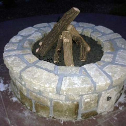 Customer Photos - Ready to finish fire pit kit that was finished by a local contractor.