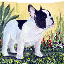 Caroline's Treasures - French Bulldog Fabric Standard Pillowcase Moisture Wicking Material - Standard White on back with artwork on the front of the pillowcase, 20.5 in w x 30 in. Nice jersy knit Moisture wicking material that wicks the moisture away from the head like a sports fabric (similar to Nike or Under Armour), breathable performance fabric makes for a nice sleeping experience and shows quality. Wash cold and dry medium. Fabric even gets softer as you wash it. No ironing required.