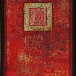 Paragon Decor - New Paradigm II Artwork - Exclusive Hand Painted Mixed Media Collage - Mounted on Board