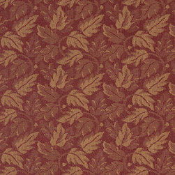 Dark Red And Gold Leaf Floral Heavy Duty Crypton Fabric By The Yard - P0167 is a woven crypton fabric. This material is breathable, stain, bacteria, moisture and abrasion resistant. Stains like blood and urine are easily removable with water and mild soap.