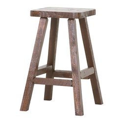 Viking Log Furniture - Barnwood Bar Stool (Honey Pine Barnwood) - Finish: Honey Pine Barnwood. Barnwood Collection. Made from fresh Sawn timbers to replicate the Barnwood look. Made to order in the US. Pictured in Dark Barnwood. Lifetime warranty. 16  in. W x 16 in. D x 30 in. HThe Barnwood Pub Stool fits right in with the Barnwood pub table.