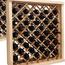 Wine Cellar Innovations - 3 ft. Diamond Bin Wine Storage (Premium Redwood - Dark Walnut Stain) - Choose Wood Type and Stain: Premium Redwood - Dark Walnut Stain. Bottle capacity: 41. Versatile wine racking. Custom and organized look. Can accommodate just about any ceiling height. Diagonal pattern. Popular for kitchen cabinet wine rack. Wine rack: 32.88 in. W x 13.5 in. D x 35.94 in. H (31 lbs.). Optional base platform: 32.88 in. W x 13.38 in. D x 3.81 in. H (5 lbs.). Vintner collection. Made in USA. Warranty. Assembly Instructions