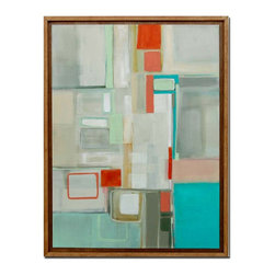 Marshmallow Squared framed painting - 'Marshmallow Squared' an original fine art painting with custom made frame.