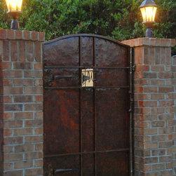 Hammered Iron Pool Gate -