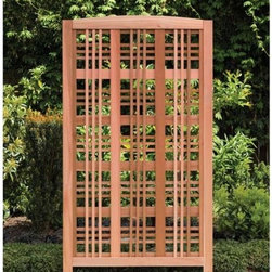 Fifthroom - Red Cedar Woodland Landscape Screen - The Catalina-style lattice will give you all the privacy you want and provide beautiful definition to your garden or patio.  Constructed of sturdy red cedar.  Combine panels to set the scene for all of your entertaining needs.