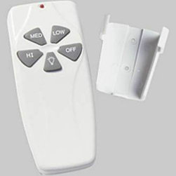 Progress Lighting - Progress Lighting P2614-01 Fan/Light Remote P2614-01 - Control your fan from the palm of your hand with this convenient ceiling fan remote control. Featuring 3 speeds and a dimmer option, this fan remote control allows you to set the perfect temperature and the perfect mood. Also included is a wall mountable holding clip for easy storage.Fan and light remote for fan speed and dimming light control Hand held remoteEnergy Efficient: No Energy Star Compliant: No Finish: White Height: 4-3 4 Width: 2-1 8