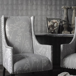 Industrial Wallpaper - A tiled wallpaper design with a stippled hide effect inspired by the work of 18th century craftsman Jean-Claude Galuchat. Produced in Britain by Andrew Martin Home.