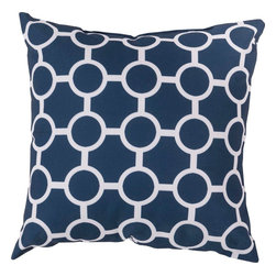 """Surya - Surya RG-119 26"""" x 26"""" Pillow Cover - Make your indoor or outdoor space come alive in scintillating circles with this luxurious pillow. Featuring smooth, intersecting circles in cool white against a bold black backdrop, this piece will define modern opulence in any room. This 18x18 pillow contains a Virgin Poly Styrene Bead fill providing a reliable and affordable solution to updating your indoor or outdoor decor."""