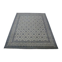 Transitional Cotton Agra 8'x10' Mughal Empire Hand Knotted Oriental Rug SH14020 - Our Modern & Contemporary Rug Collections are directly imported out of India & China.  The designs range from, solid, striped, geometric, modern, and abstract.  The color schemes range from very soft to very vibrant.