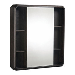 """Danze - Danze DF024120WG 30"""" Mirrored Cabinet Wenge Stain - Danze DF024120WG Wenge Stain 30"""" Mirrored Cabinet is part of the Cirtangular-Brulee Bath collectiion."""