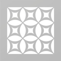 Just A Trace LLC - Just A Trace Pinwheel One Classic Geometric Pattern Stencil 16-Inch - A classic geometric stencil! Make a statement: repeat this design on your walls, floor, ceiling and furniture.