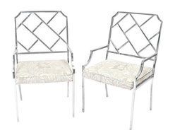 Milo Baughman - Pre-owned Milo Baughman Chrome Chinese Chippendale Chairs - These Chinese Chippendale style chrome chairs are by Milo Baughman for Design Institute of America. They're not only hard to come by, but are in excellent vintage condition.