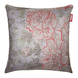 Fatboy - Pillow in Small Floral Red - Filled with comfortable, high quality foam. Oversized and comfortable floor cushion. Cover is machine washable at 86°F. Soft and durable fabric outer. Made from 100% polyester. 39 in. W x 8 in. D x 39 in. H (7 lbs.)Feel a little Persian vibe? Maybe floral? Let your imagination run free with me, the new Cuscino special. Run wild, Ill be there to break your fall. Fun and multi-functional pillow from Fatboy.