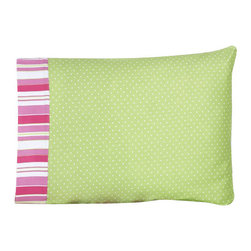 Sweet Jojo Designs - Olivia Children's Sheet Set Twin (3 Pc.) - The Olivia Children's sheet set will help complete the look of your Sweet Jojo Designs room. This green and white mini polka dot print with stripe trim sheet set is available in a Twin and Queen Size and is machine washable for easy care.