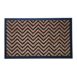 "A1 Home Collections - Rubber And Coir Molded ""Chevron"" Doormat - Accent your doorway with this ultra chic and stylish doormat.Crafted of all natural rubber and coir this mat is an excellent decorative accent for your doorway and it also help remove dirt, debris, mud and moisture from your shoes."